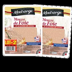 Mousse de foie VPF que l'essentiel MADRANGE, 2x180g