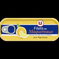 Filets de maquereaux aux agrumes U, boîte de 1/4, 169g