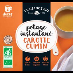 Potage instantané carotte cumin PLAISANCE BIO, sachet pour 2 doses individuelles,  17g