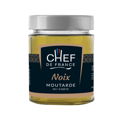 Moutarde aux noix CHEF DE FRANCE, 190g