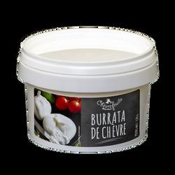 Burrata, 18% de matières grasses, au lait de chèvre entier et pasteurisé, Le Chèvrefeuille, 120g