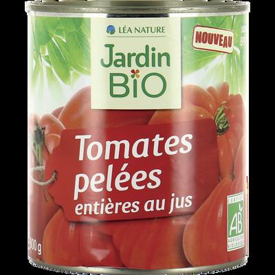 Tomate enière pelées au jus JARDIN BIO, boite en métal de 800g