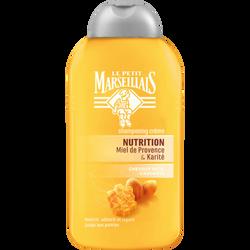Shampoing pour cheveux secs abîmés et cassants parfum karité et miel nutrition LE PETIT MARSEILLAIS, 250ml