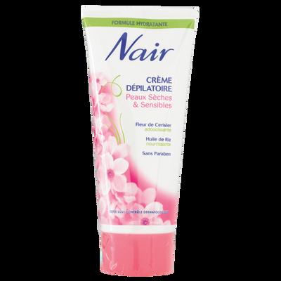 Crème dépilatoire pour peaux sensibles fleurs de cerisier NAIR, tube de 200ml