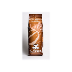 Café en grains moka LES CAFES GAILLARD, paquet 1kg