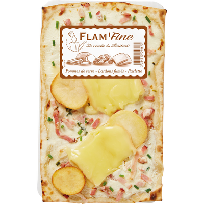 Flam'fine pomme de terre/lardons/raclette, 180g