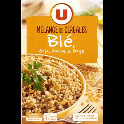 Mélange de céréales blé, soja, avoine et orge U, paquet de 400g