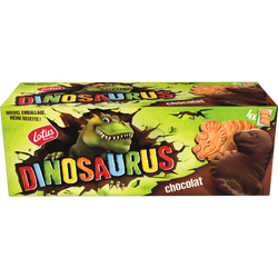 Biscuits nappés chocolat noir DINOSAURUS,LOTUS 225g