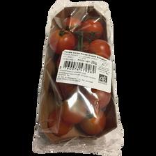 Tomate cerise en grappe, segment Les cerises rondes grappes, BIO, catégorie 2, Espagne, barquette, 250g