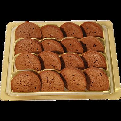 Mini financier rond au chocolat, ASTRUC PATISSERIE, 1 boîte, 90g