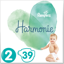 Pampers Couches Harmonie , 4-8kg Taille 2, X39