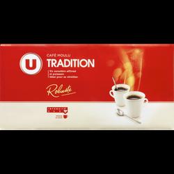 Café moulu tradition U, 4 paquets de 250g, 1kg