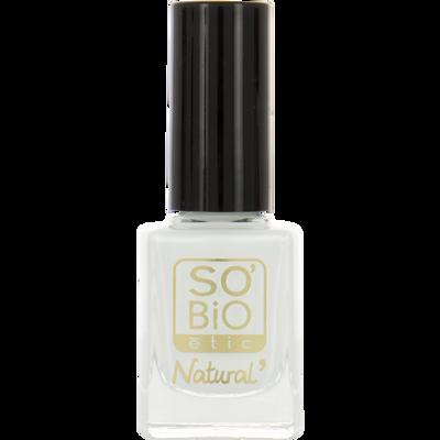Vernis à ongles, soin et couleur, à l'huile de ricin biologique 12 blanc french - Sans étui
