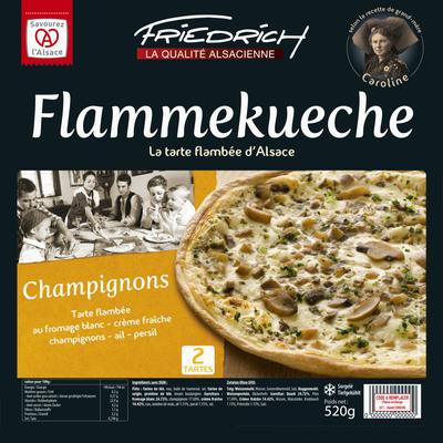 Tartes flambées tradition champignons FRIEDRICH, 520G
