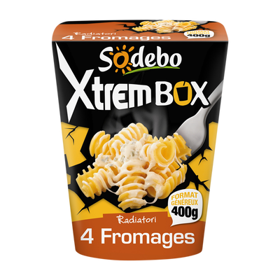Xtrem box radiatori 4 fromages SODEBO, 400g