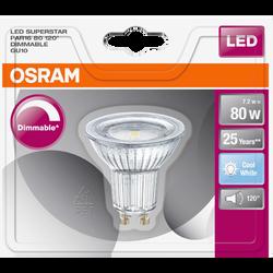 Ampoule led prémium OSRAM, spot 120° 80W, verre lumière froide variateur