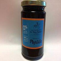 Préparation 70% de myrtille 0% de sucres ajoutés * CONFITURIER.VIEUX CHERIER 350g
