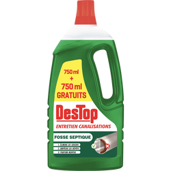 Gel entretien canalisation organique DESTOP 750 + 750ml gratuits