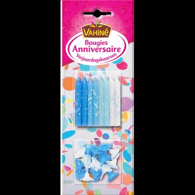 Bougies d'anniversaire multicolores VAHINE