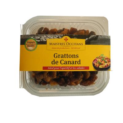 Gratton de canard mi-cuit, MAISTRES OCCITANS, Barquette, 150g