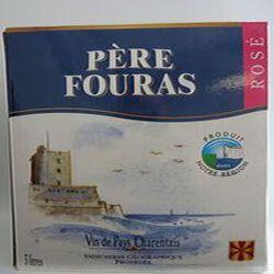 Vin de pays charentais rosé IGP brique 3 litres Père Fouras