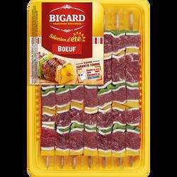Brochette de boeuf, BIGARD, France, 7 pièces, barquette, 665g