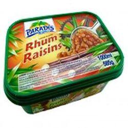 Crème glacée PARADIS 1L, parfum rhum/raisins