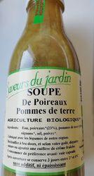 SOUPE DE POIREAUX PDT BIO 97cl les saveurs du jardin