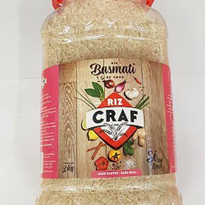 Riz basmati de luxe, CRAF, le bidon de 3kg