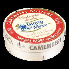 Camembert au lait micro filtré ISIGNY SANTE MERE, 22% de MG, 250g