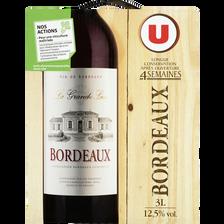 Vin rouge AOP Bordeaux La Grande Lice U, fontaine à vin de 3l