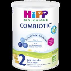 HIPP 2ème âge de suite Bio combiotic dès 6 mois boîte 800g