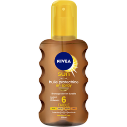 Huile protectrice fps6 NIVEA SUN spray 200ml