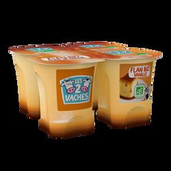Flans bio à la vanille de Madagascar nappés caramel LES 2 VACHES, 4x100g