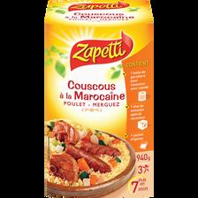 Couscous à la marocaine poulet et merguez ZAPETTI, paquet de 940g