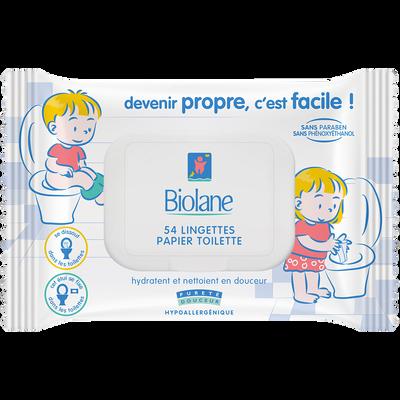 Papier toilette BIOLANE, 54 lingettes