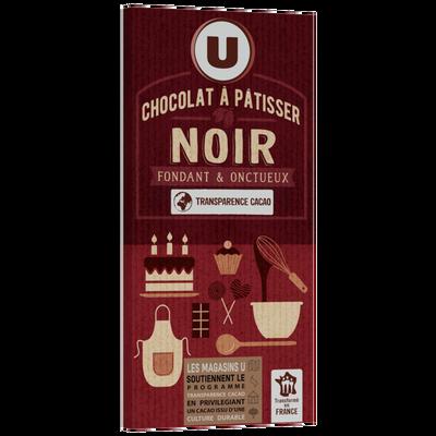Tablette Chocolat noir pâtissier U,  2x200g