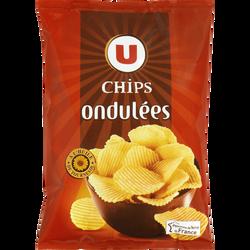 Chips ondulée U, sachet de 150g