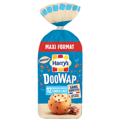 DOOWAP pépites de chocolat au lait HARRYS, x12, 480g
