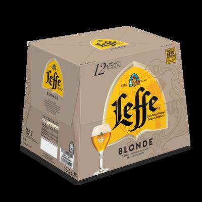 Bière blonde ABBAYE DE LEFFE, 6,6°, pack 12x25cl