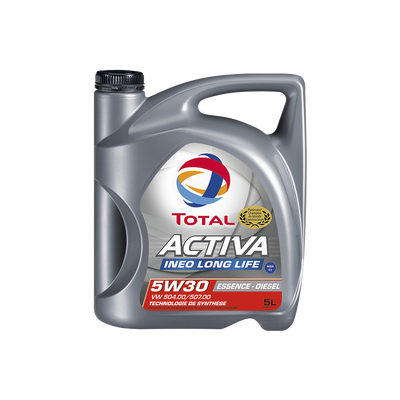 Huile TOTAL, mix 5w30, activa inéo, long life, 5 litres