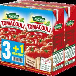Sauce nature Tomacouli PANZANI, 3 briques de 500g + 1 offert