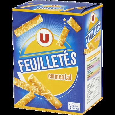 Crackers feuilletés emmental U, paquet de 85g