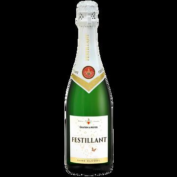 Festillant Vin Blanc Effervescent À Base De Vin Désalcoolisé Festillant, 75cl