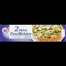 Pâtes à tarte feuilletées U, 2 paquets, 460g