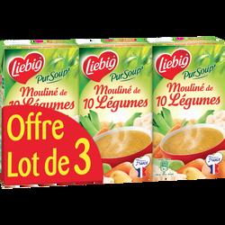 Soupe mouliné 10 légumes variés LIEBIG, 3x1l