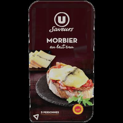 Morbier AOP au lait cru 29%mg U SAVEURS, tranchettes 200g