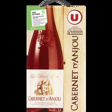 Vin rosé AOC Cabernet d'Anjou Les Hauts Buis U, fontaine à vin, 5 litres