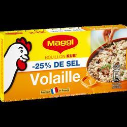 Bouillon de volaille -25% de sel MAGGI, 12 tablettes de  5,5l