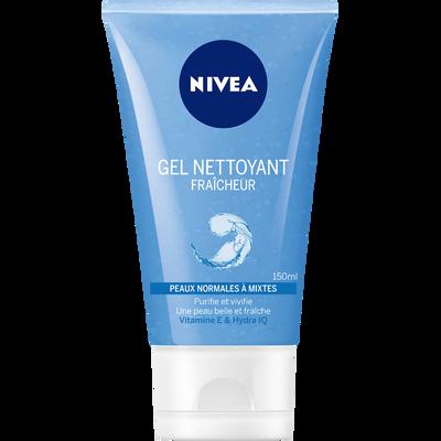 Gel moussant fraîcheur pour peaux normales à mixtes NIVEA VISAGE, 150ml